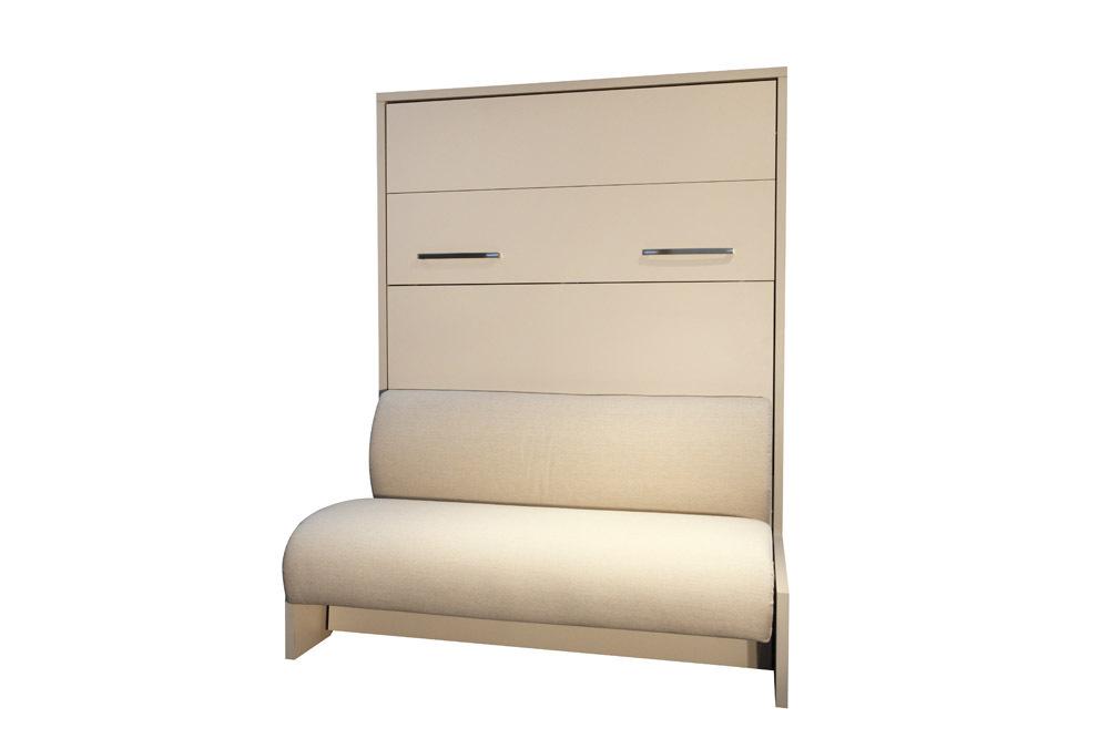 wandbett mit sofa wbs 2 classic 160 x 200 cm in kernnussbaum wei. Black Bedroom Furniture Sets. Home Design Ideas