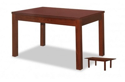 Mahagoni holz farbe  TS Möbel Esstisch ST-62 ausziehbar, Holzfarbe Mahagoni NEU