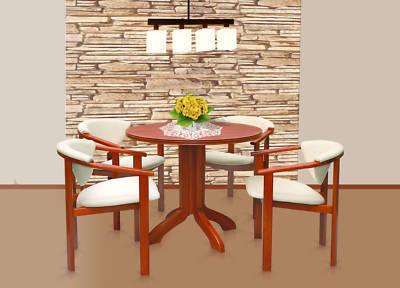 essgruppe esstisch stz 2 mit 4 st hlen f 1 holz kirschbaum. Black Bedroom Furniture Sets. Home Design Ideas