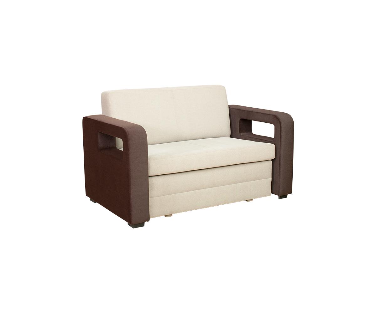 2 sitzer sofa karmen mit schlaffunktion stoff beige braun. Black Bedroom Furniture Sets. Home Design Ideas