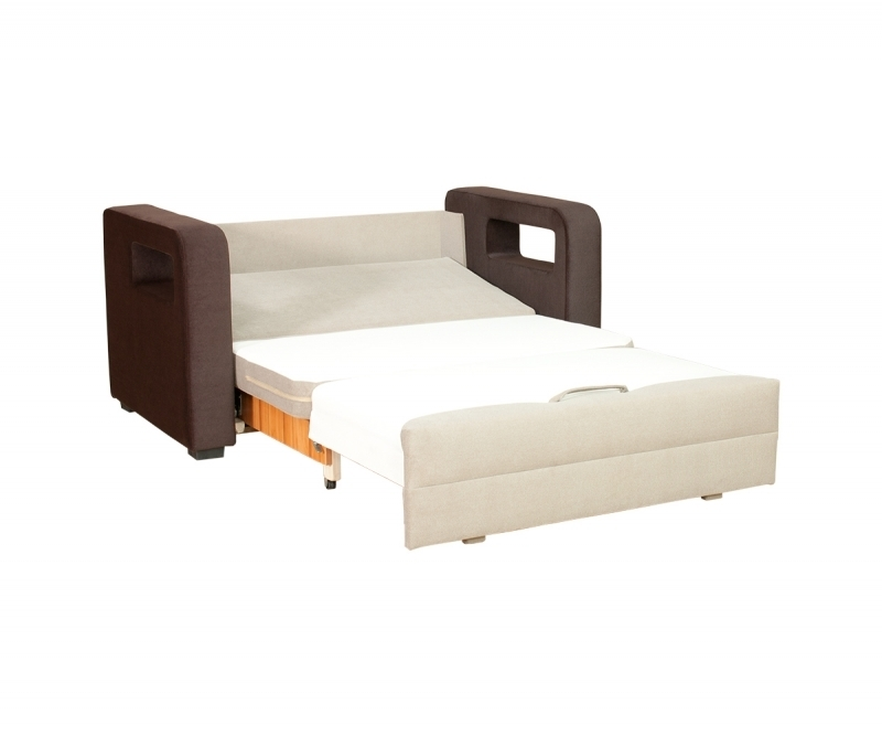 2 sitzer sofa karmen mit schlaffunktion stoff beige braun. Black Bedroom Furniture Sets. Home Design Ideas