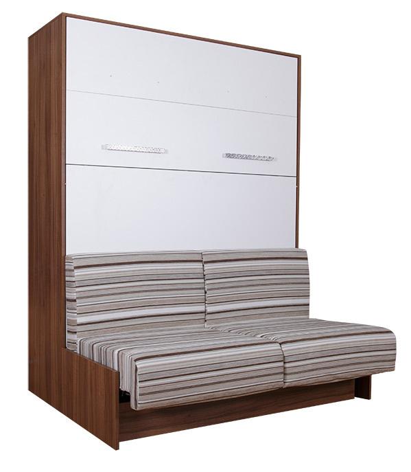 wandbett mit sofa wbs 1 classic 160 x 200 cm in. Black Bedroom Furniture Sets. Home Design Ideas