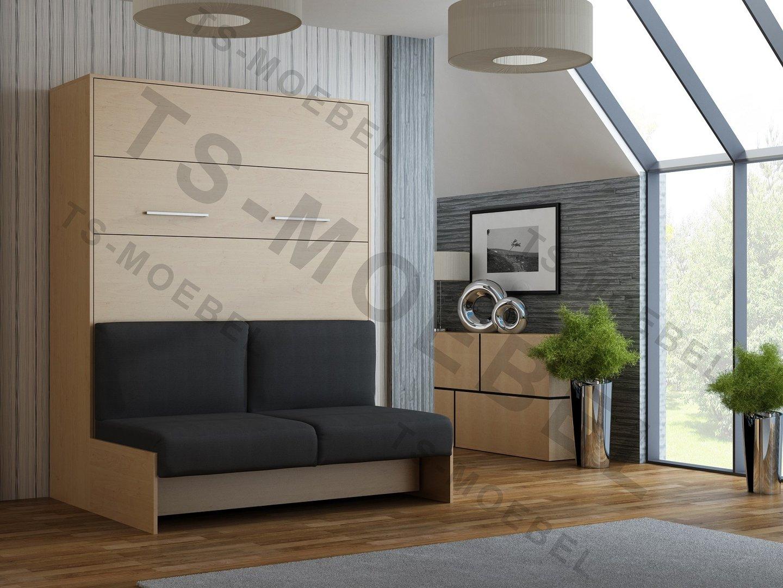 Wandbett mit sofa wbs 1 classic 140 x 200 cm in buche - Wandbett mit sofa ...