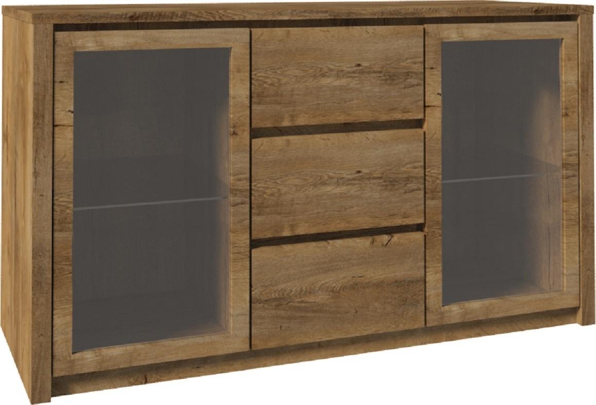 ts m bel kommode montana k2d holz eiche lefkas neu. Black Bedroom Furniture Sets. Home Design Ideas