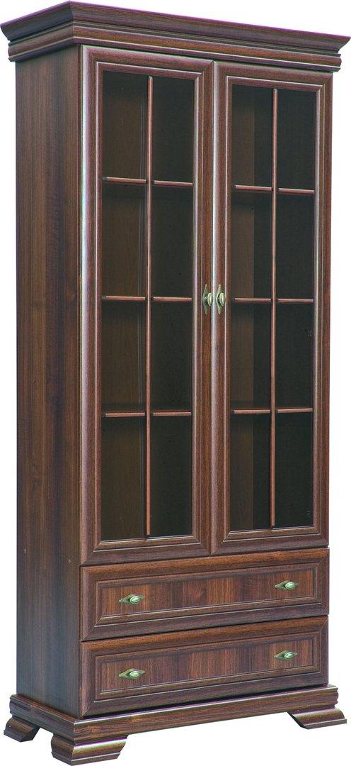 ts m bel vitrine kora krw2 holzfarbe nussbaum neu. Black Bedroom Furniture Sets. Home Design Ideas