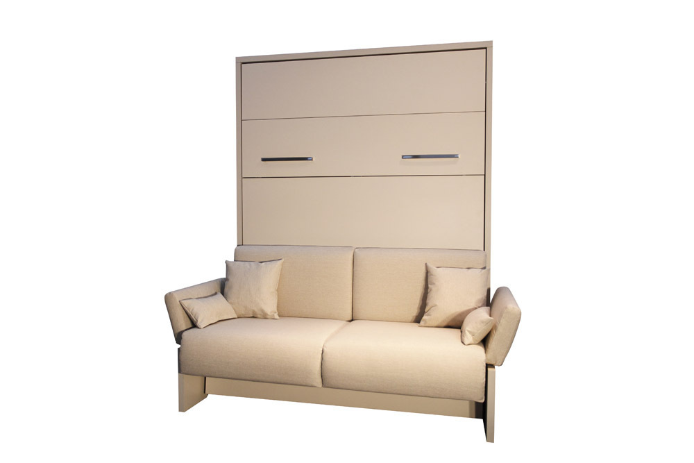 wandbett mit sofa wbs 1 soft 140 x 200 cm in ahorn honig. Black Bedroom Furniture Sets. Home Design Ideas