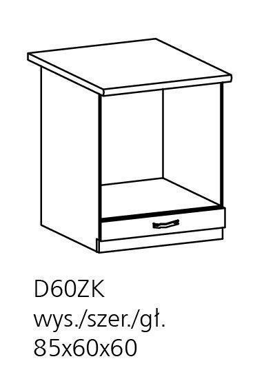 herdunterschrank royal d60zk holzfarbe nordische kiefer. Black Bedroom Furniture Sets. Home Design Ideas