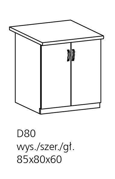 ts m bel unterschrank royal d80 holzfarbe nordische kiefer neu. Black Bedroom Furniture Sets. Home Design Ideas