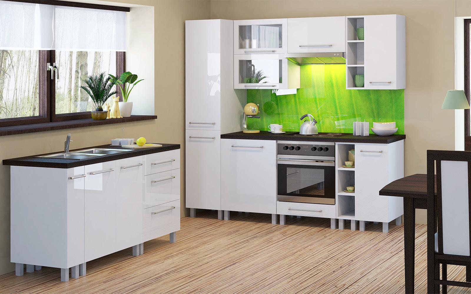 Unterschrank küche weiß  Unterschrank mit Schubladen Loara, 40 cm breit, Hochglanz Weiß