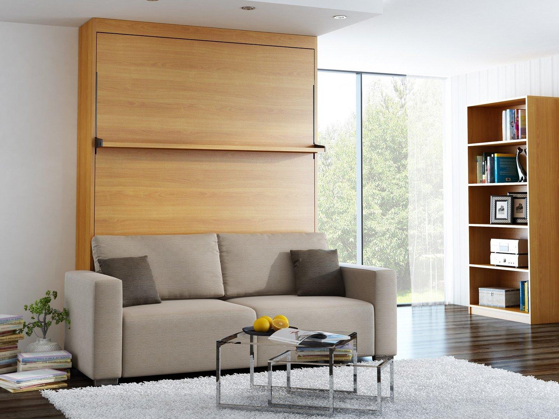 wandbett mit sofa leggio linea std 140 x 200 cm kirsche. Black Bedroom Furniture Sets. Home Design Ideas
