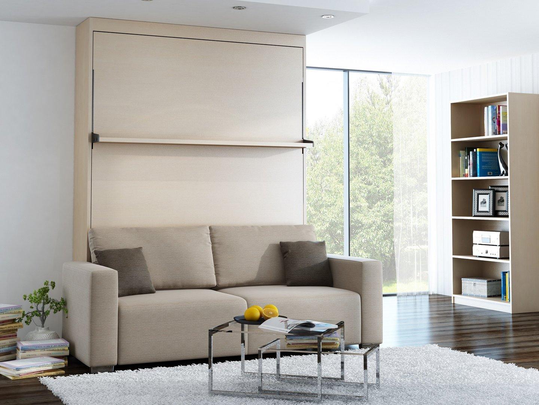 wandbett mit sofa leggio linea std 140 x 200 cm mainau birke. Black Bedroom Furniture Sets. Home Design Ideas