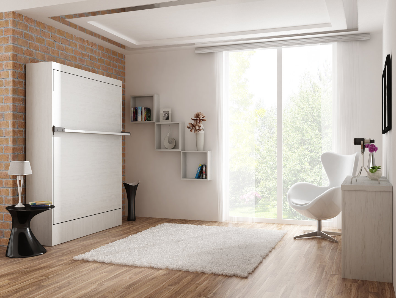 schrankbett wandbett leggio 120 x 200 cm whitewood 42 cm tiefe ebay. Black Bedroom Furniture Sets. Home Design Ideas