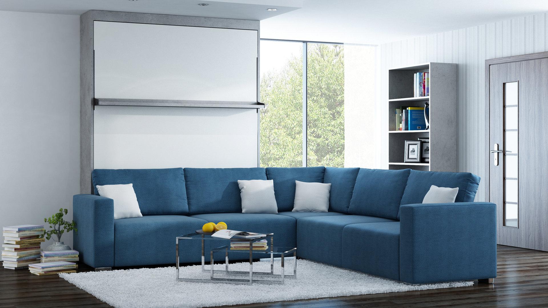ts m bel wandbett mit sofa ecke leggio linea std std 160 x. Black Bedroom Furniture Sets. Home Design Ideas