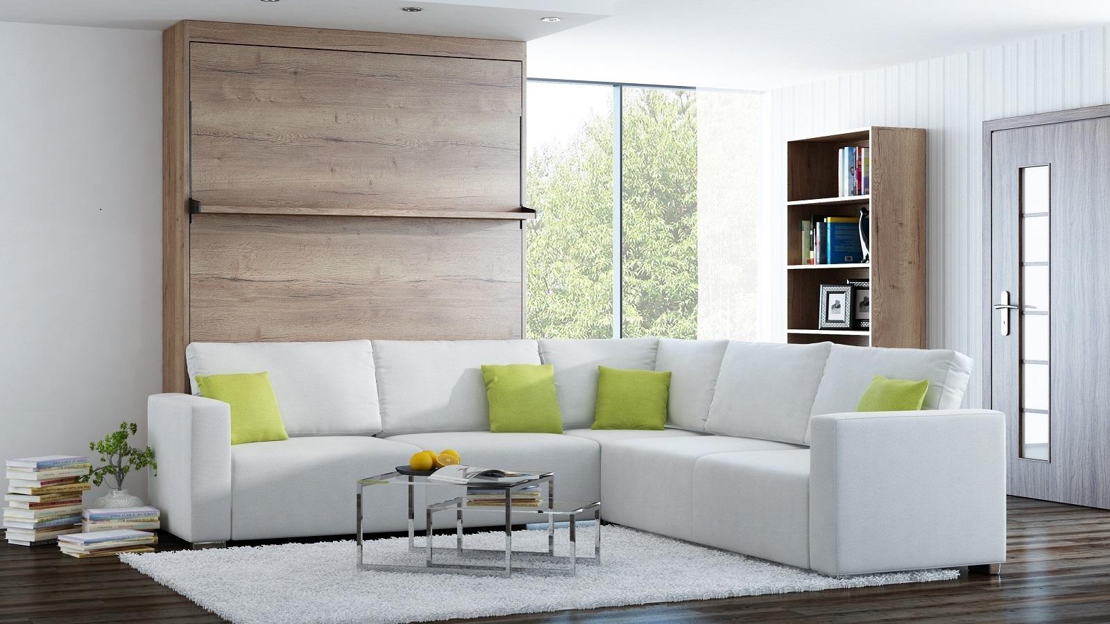ts m bel wandbett mit sofa ecke leggio linea std std 140 x 200 cm. Black Bedroom Furniture Sets. Home Design Ideas