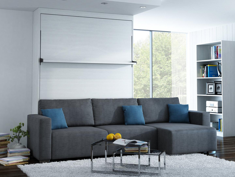 wandbett mit sofa ecke leggio linea lw 140 x 200 cm whitewood. Black Bedroom Furniture Sets. Home Design Ideas