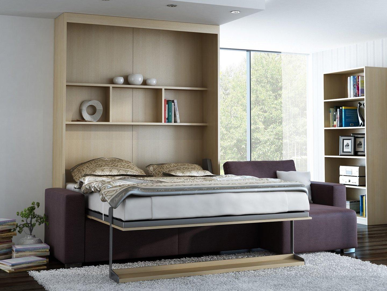 ts m bel wandbett mit sofa ecke leggio linea lw 160 x 200 cm. Black Bedroom Furniture Sets. Home Design Ideas