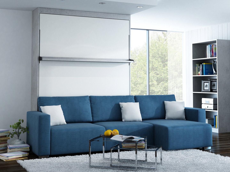 Ts m bel wandbett mit sofa ecke leggio linea lw 160 x 200 cm - Wandbett mit sofa ...