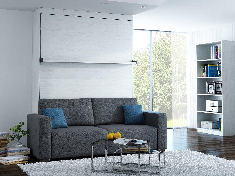 wandbett mit sofa leggio linea std 160 x 200 cm whitewood. Black Bedroom Furniture Sets. Home Design Ideas