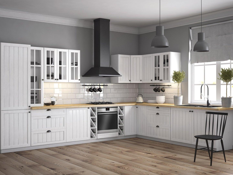 unterschrank f r die sp le prowansja d80z farbe kiefer wei neu. Black Bedroom Furniture Sets. Home Design Ideas