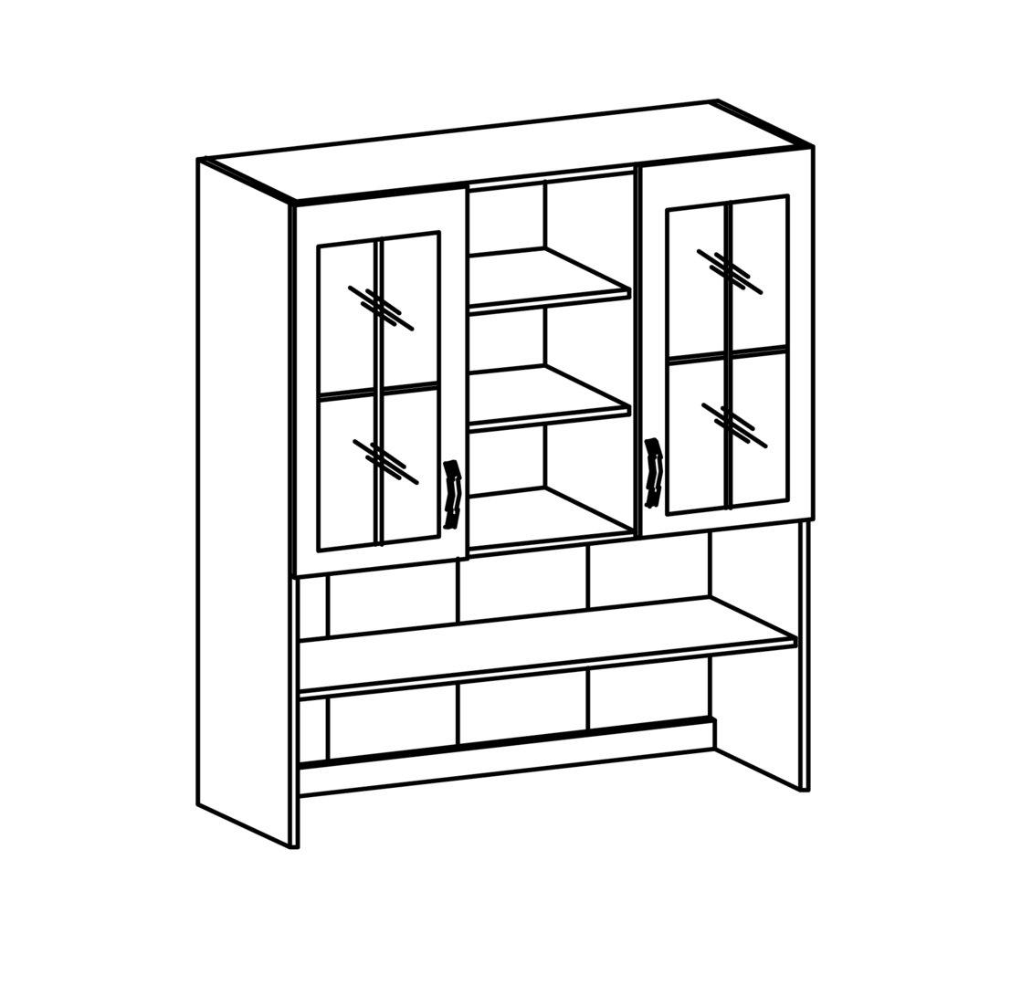 ts m bel oberschrank vitrine prowansja k120 holzfarbe wei kiefer. Black Bedroom Furniture Sets. Home Design Ideas