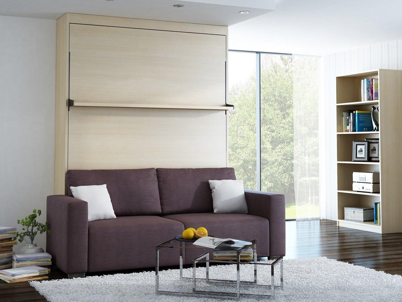 Neu Schrankbett Wandbett Mit Sofa Leggio Linea Std Vertikal 180 X 200 Cm