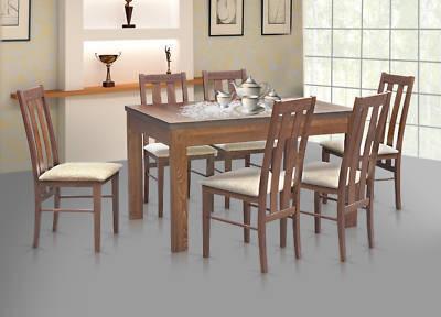 essgruppe esstisch stl 63 1 mit 6 st hlen kt 10 holz nussbaum. Black Bedroom Furniture Sets. Home Design Ideas