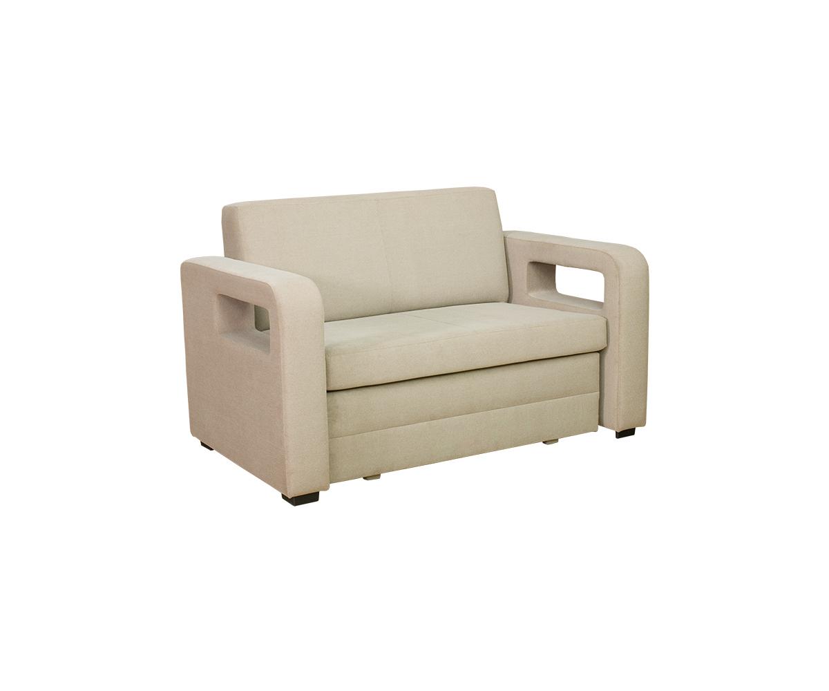 2 Sitzer Sofa Karmen Mit Bettkasten Und Schlaffunktion In Beige