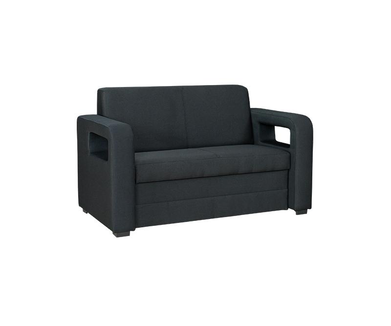 2 sitzer sofa karmen mit bettkasten und schlaffunktion in schwarz