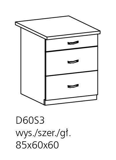 ts m bel unterschrank royal d60s3 holzfarbe nordische kiefer neu. Black Bedroom Furniture Sets. Home Design Ideas