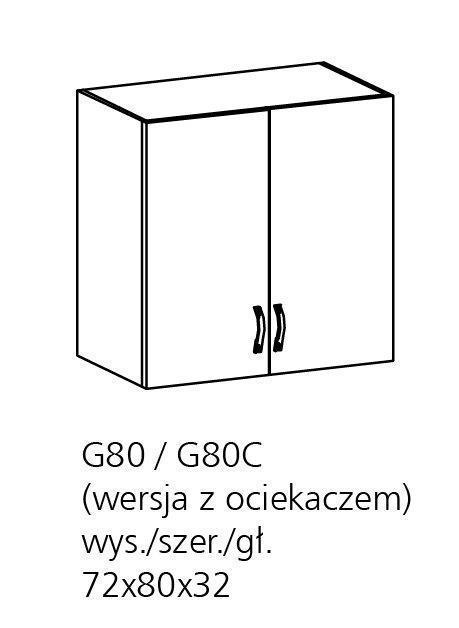 ts m bel oberschrank royal g80 holzfarbe nordische kiefer neu. Black Bedroom Furniture Sets. Home Design Ideas