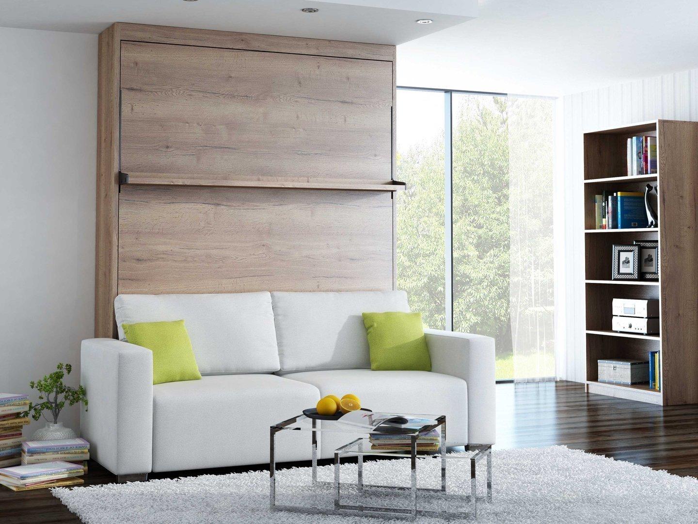 schrankbett wandbett mit sofa leggio linea std vertikal 180 x 200