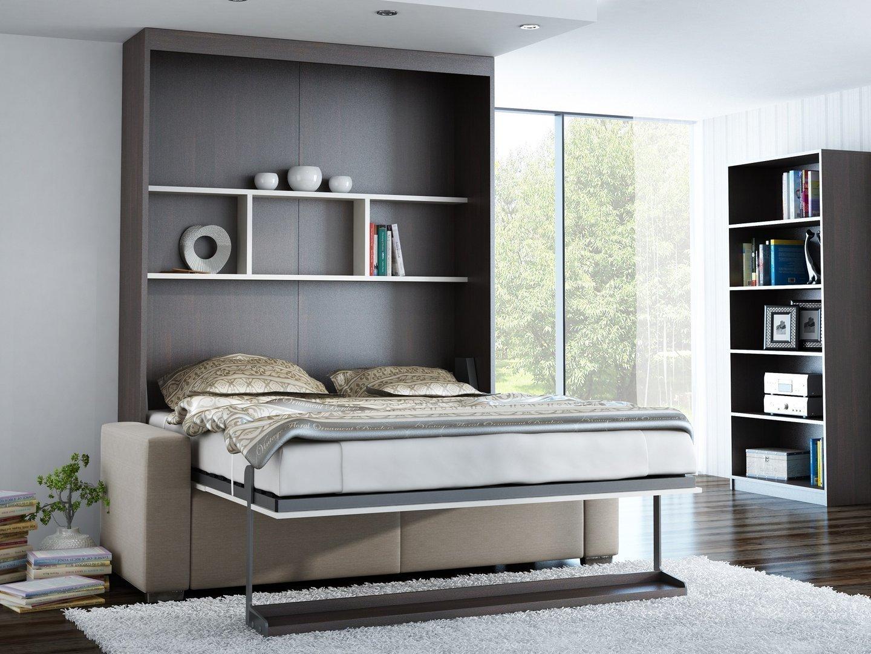 Schrankbett Wandbett mit Sofa Leggio Linea STD Vertikal